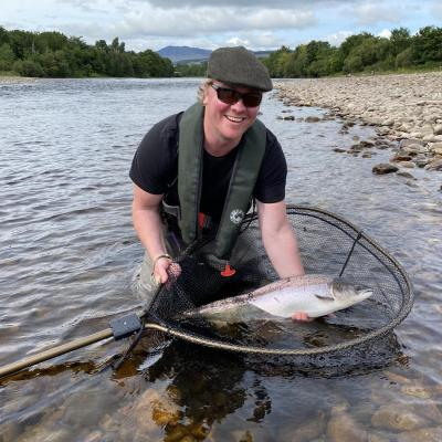 A perfect Summer Salmon from the River Tummel